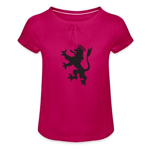 Escudo León - Camiseta para niña con drapeado
