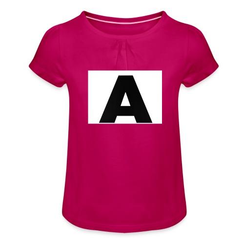 A-685FC343 4709 4F14 B1B0 D5C988344C3B - Pige T-shirt med flæser