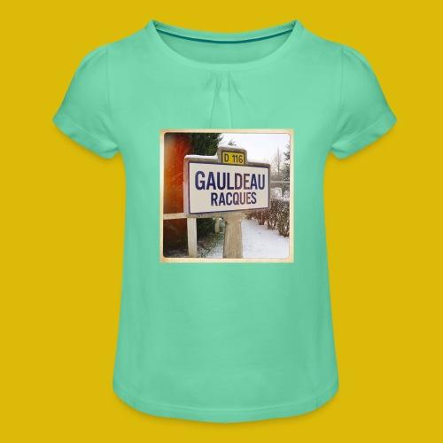 Gogoldorak - T-shirt à fronces au col Fille