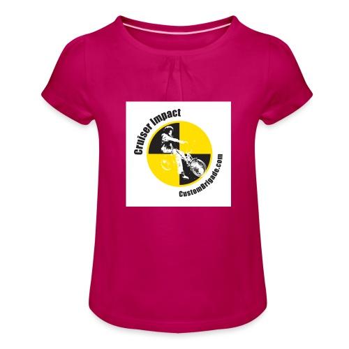badge010 - T-shirt à fronces au col Fille