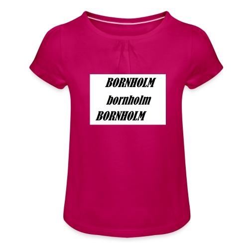 Bornholm Bornholm Bornholm - Pige T-shirt med flæser