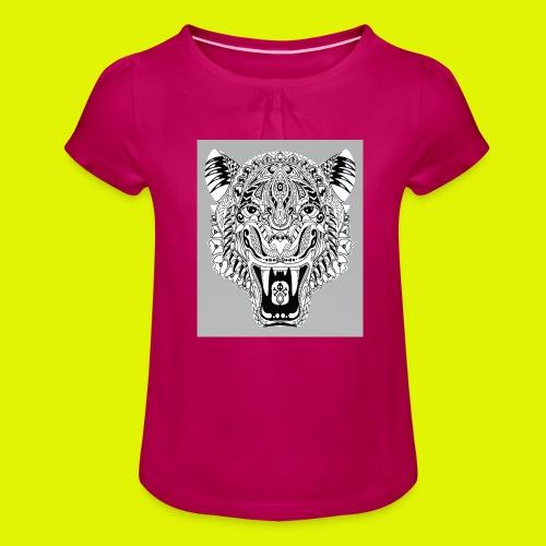 mandala tigre - Maglietta da ragazza con arricciatura