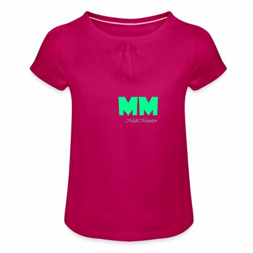 MattMonster Signature logo - Girl's T-Shirt with Ruffles