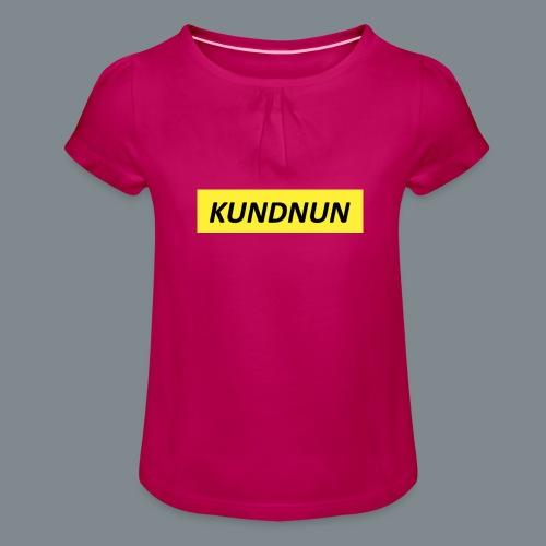 Kundnun official - Meisjes-T-shirt met plooien