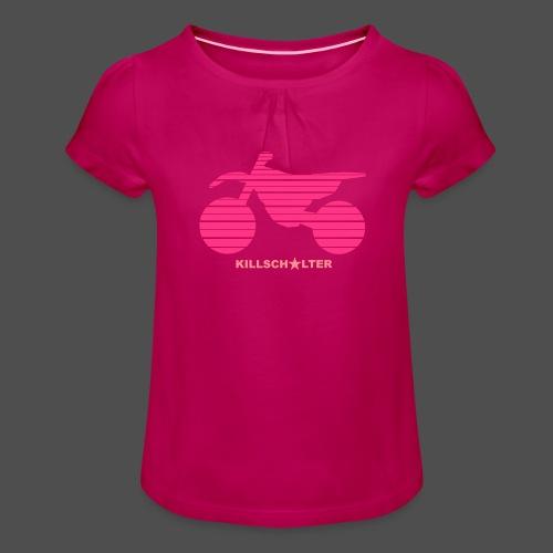 MX Bike - Koszulka dziewczęca z marszczeniami