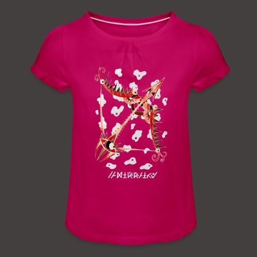 Sagittaire Négutif - T-shirt à fronces au col Fille