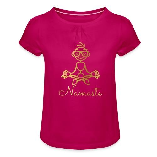 Namaste - Girl's T-Shirt with Ruffles