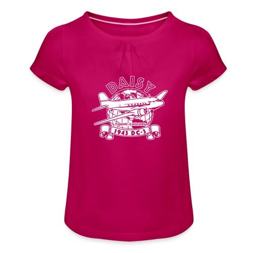 Daisy Globetrotter 2 - T-shirt med rynkning flicka