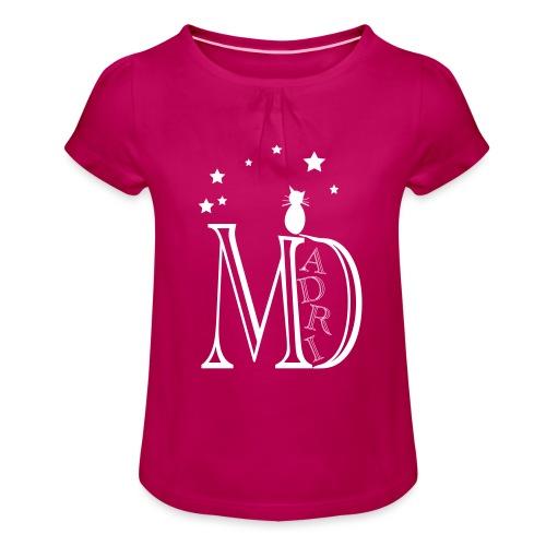 MadriG - Camiseta para niña con drapeado