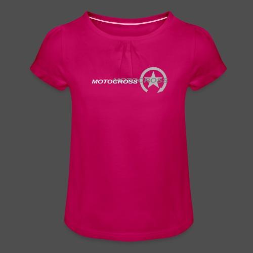 MOTOCROSS - Koszulka dziewczęca z marszczeniami