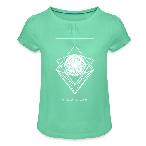 VISION [WHITE] - Meisjes-T-shirt met plooien