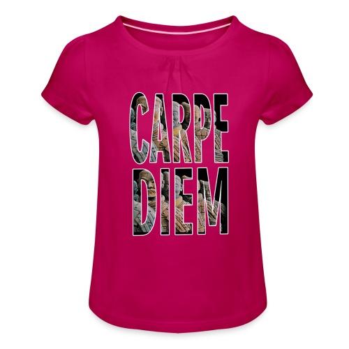 VIVE EL MOMENTO MERKOS - Camiseta para niña con drapeado