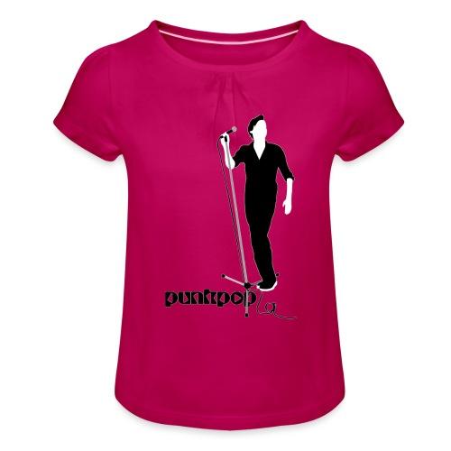 Beautiful Suede PunkPop - Maglietta da ragazza con arricciatura