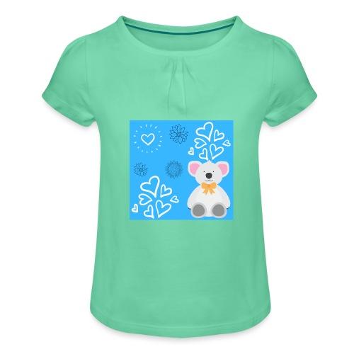 I LOVE ORSETTI - Maglietta da ragazza con arricciatura
