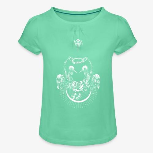 Nocturn design 2 - T-shirt à fronces au col Fille