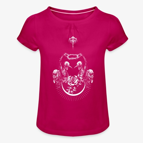 Nocturn design 2 - T-shirt à fronces au col Fille