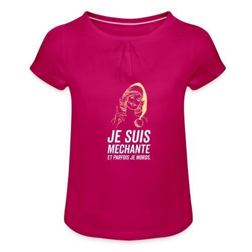 Tshirt Femme - T-shirt à fronces au col Fille