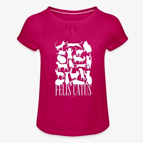 Felis Catus - Tyttöjen t-paita, jossa rypytyksiä