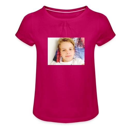 first design - Pige T-shirt med flæser