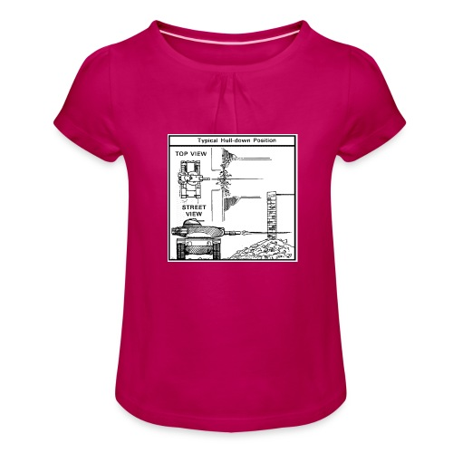 W.O.T War tactic, tank shot - Girl's T-Shirt with Ruffles