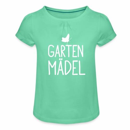 Gartenmädel - Mädchen-T-Shirt mit Raffungen