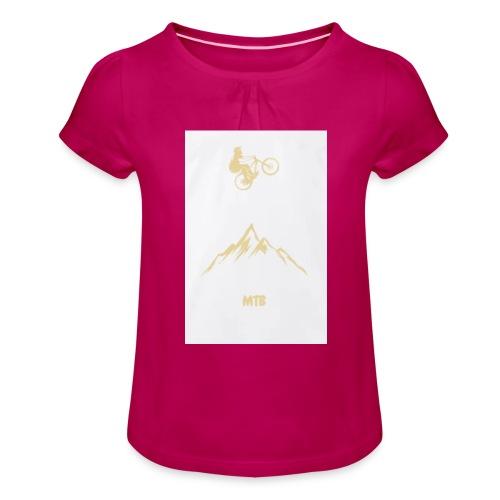 MTB Special Edition - Mädchen-T-Shirt mit Raffungen