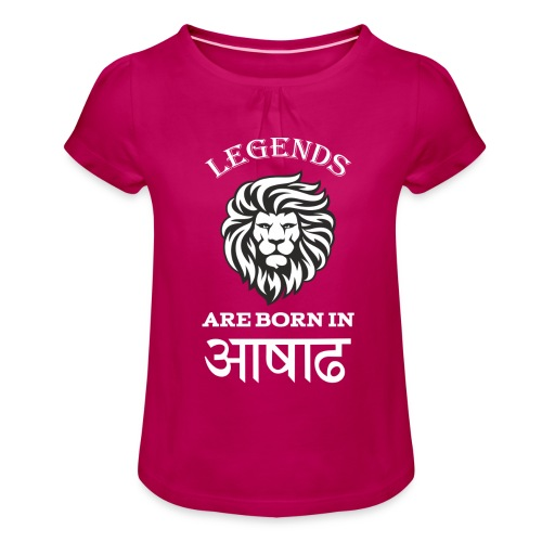 Asar, the third month of Nepali Calender - Girl's T-Shirt with Ruffles