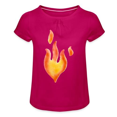 Fiamma - Maglietta da ragazza con arricciatura