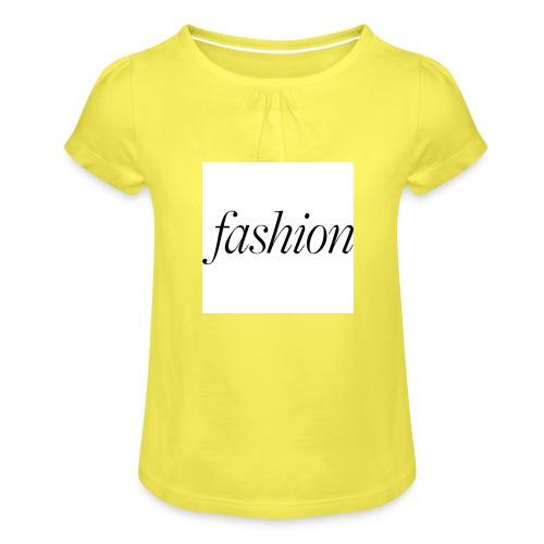 fashion - Meisjes-T-shirt met plooien