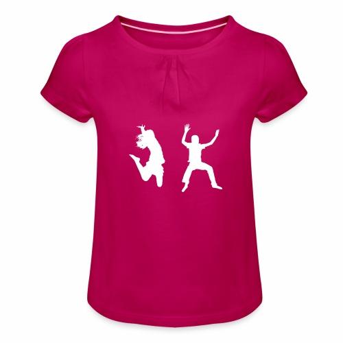 Trampoline - Girl's T-Shirt with Ruffles