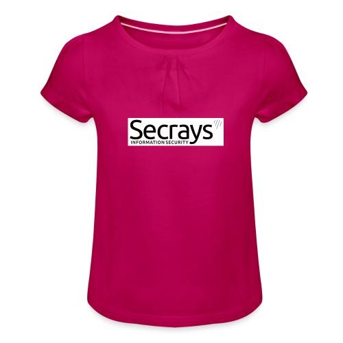logo musta teksti - Tyttöjen t-paita, jossa rypytyksiä