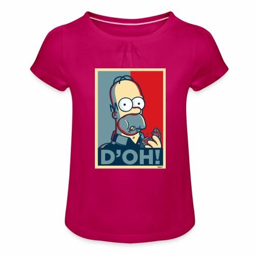 Homer Donuts - T-shirt à fronces au col Fille