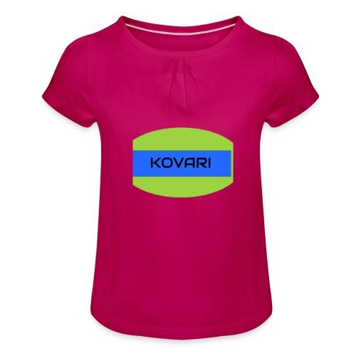 Kovari Logo - Tyttöjen t-paita, jossa rypytyksiä