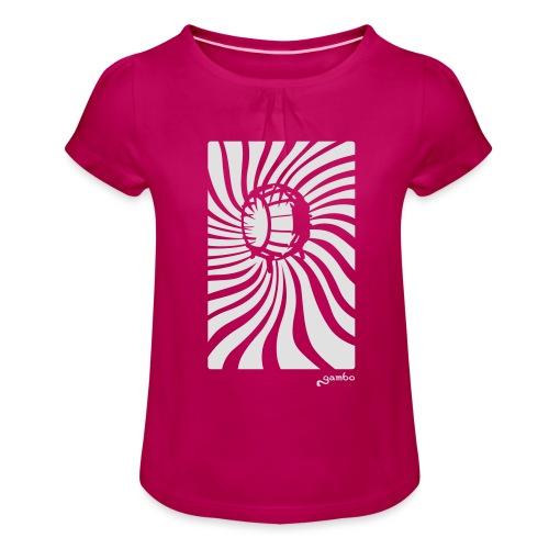 wirbel - Mädchen-T-Shirt mit Raffungen