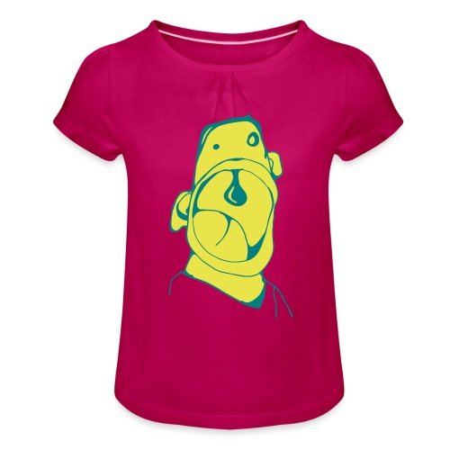 Walter - Mädchen-T-Shirt mit Raffungen