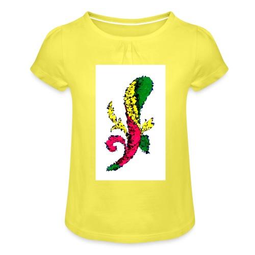 Asso bastoni - Maglietta da ragazza con arricciatura