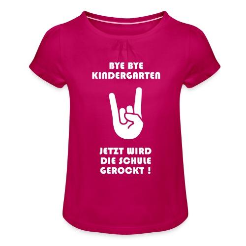 ELI - Mädchen-T-Shirt mit Raffungen