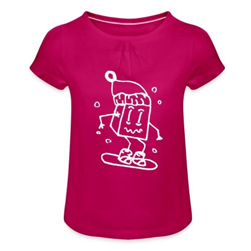 snowboarding - Girl's T-Shirt with Ruffles