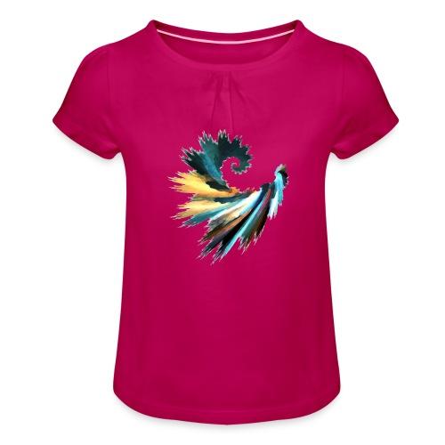 Fractal - T-shirt à fronces au col Fille