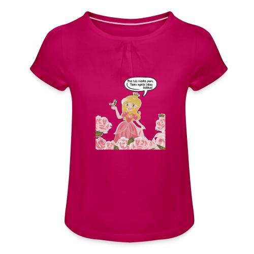 Liikaa kakkua - Tyttöjen t-paita, jossa rypytyksiä