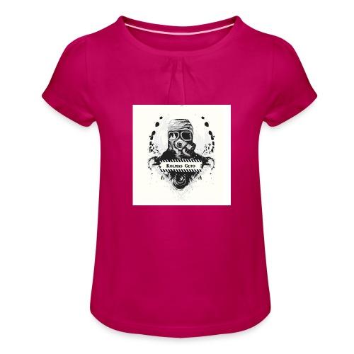 KOLMAS GETO LOGO VALMIS ISO RESOLUUTIO - Tyttöjen t-paita, jossa rypytyksiä