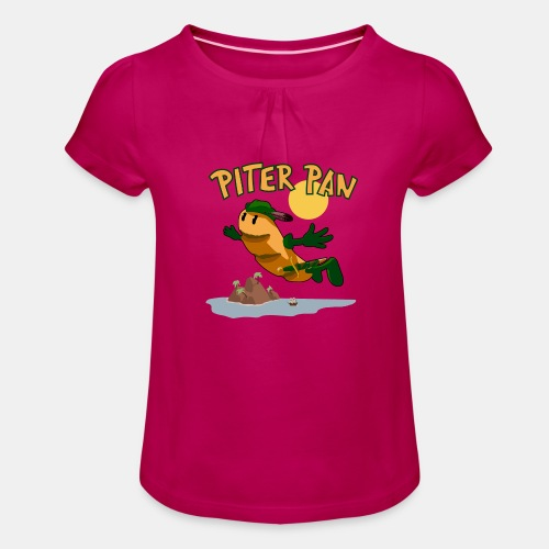 PITER PAN - Camiseta para niña con drapeado
