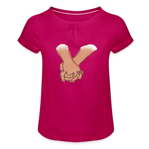 Intreccio di Coppia - Maglietta da ragazza con arricciatura