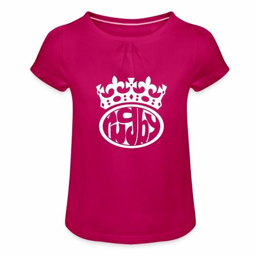 RTSW MarPlo - Maglietta da ragazza con arricciatura