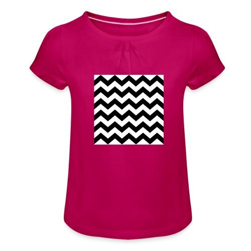 zigzag png - T-shirt à fronces au col Fille