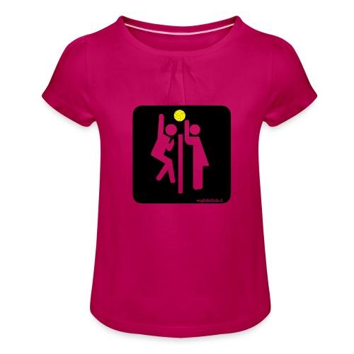 Toilet Volley - Maglietta da ragazza con arricciatura