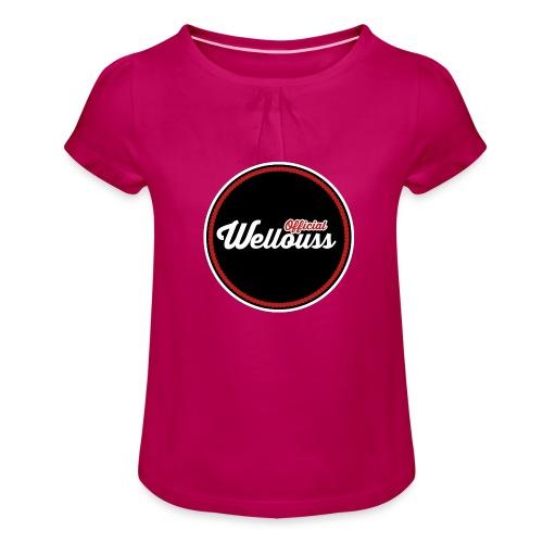 Wellouss Fan T-shirt   Rood - Meisjes-T-shirt met plooien