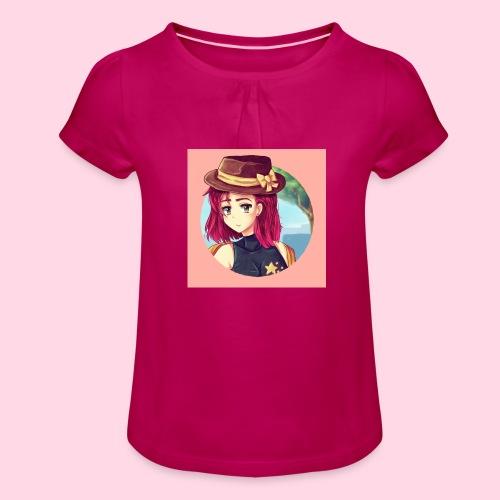 Juliette Badge - T-shirt à fronces au col Fille