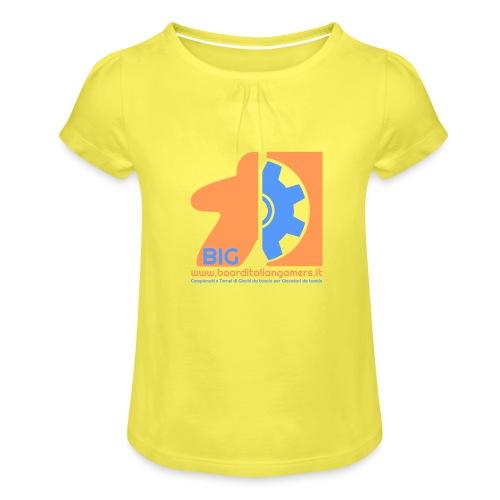 BIG - Maglietta da ragazza con arricciatura