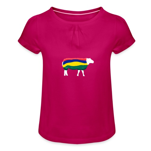 Schaap van Terschelling - Meisjes-T-shirt met plooien